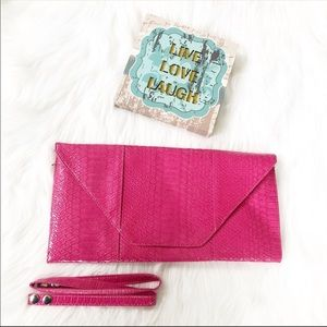 Handbags - Pink Oversized Clutch